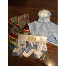 Baby accessories from Newborn upwards Hat, Socks, Baby Blanket