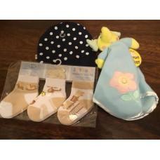 Baby accessories from Newborn upwards Hat, Socks, Baby Blanket etc