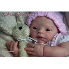 Pebbles Down Syndrome doll kit sculpted by Lilianne Breedveld