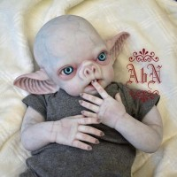 Vlad Vampire/Human baby sculpted by Noemi Smith IN STOCK